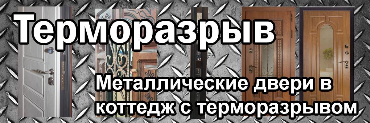 Металлические двери в коттедж с терморазрывом